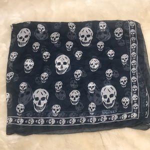 Alexander McQueen silk skull scarf